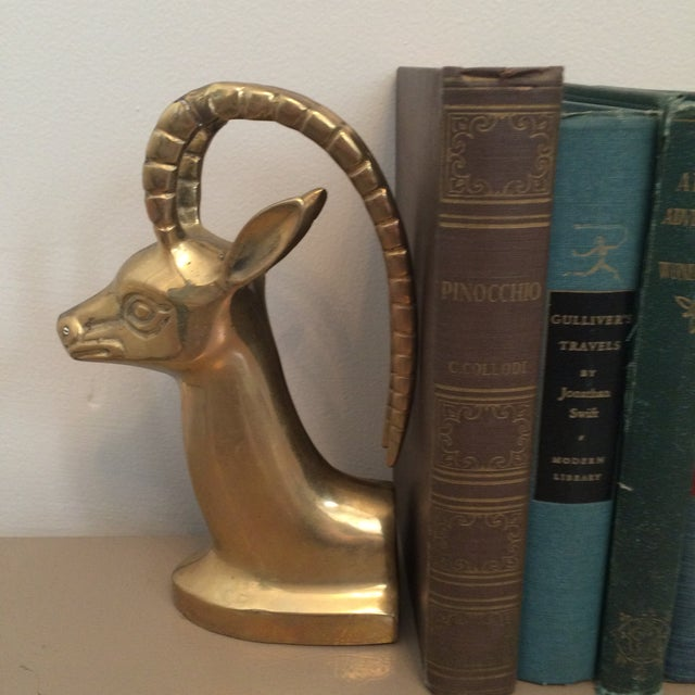 Brass Ibex Bookends - Image 4 of 8