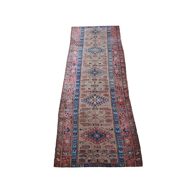 "Antique Persian Sarab Runner Early 1900's - Size 3'4"" X 11'3"" - Image 1 of 4"