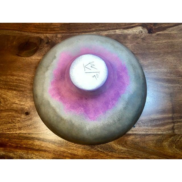 Decorative Porcelain Vessel in Gradient Metallic Finish For Sale - Image 11 of 13
