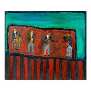 'Jazz Quartet' by Jonathan Taylor, California Modernist For Sale