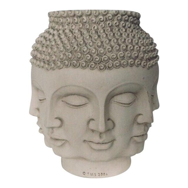 Fornasetti Dora Maar Style Multi Face Asian Buddha Planter / Vase For Sale
