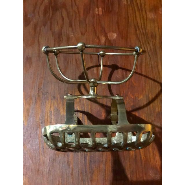 Metal Antique Soap/Sponge Holder For Sale - Image 7 of 8