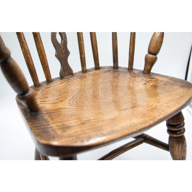 Mid 19th Century Antique 19th-Century English Windsor Child's Chair For Sale - Image 5 of 7