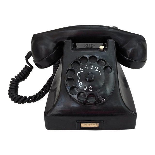 Bakelite Telephone With Adapter For Sale