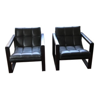 Maurice Villency Architectural Accent Chairs - a Pair For Sale