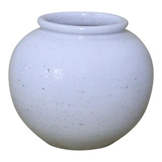 Transitional Sarreid Ltd. White Ceramic Jar For Sale