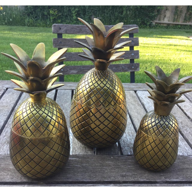 Brass Pineapple Taper Holders - Set of 3 For Sale - Image 10 of 10