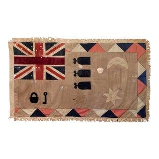Rare Antique British Colony Flag in Lucite Frame