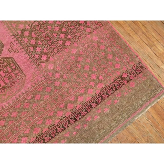 Pink Wild Pink Vintage Tribal Rug, 10'10'' X 13'5'' For Sale - Image 8 of 11
