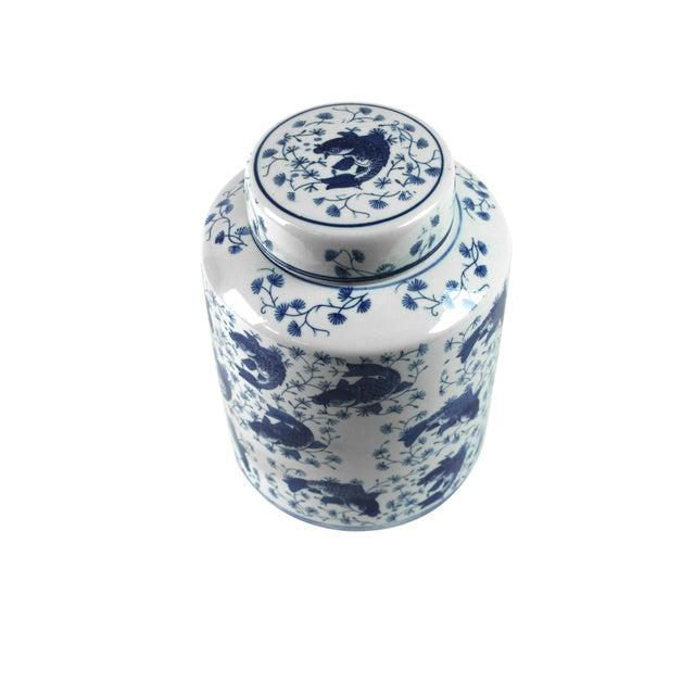 Koi Fish Porcelain Tea Vessel - Image 3 of 4