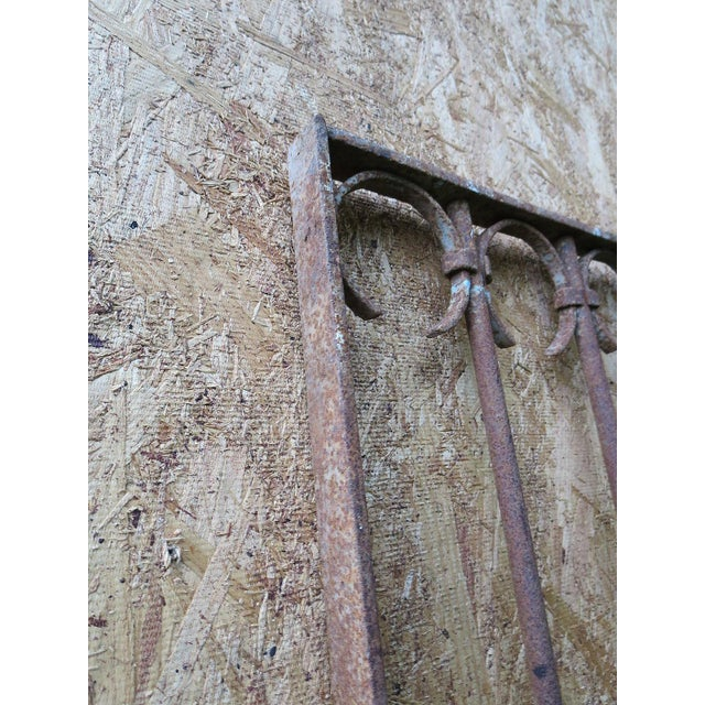 Antique Victorian Iron Gate Window Garden Fence Architectural Salvage Door For Sale - Image 11 of 11