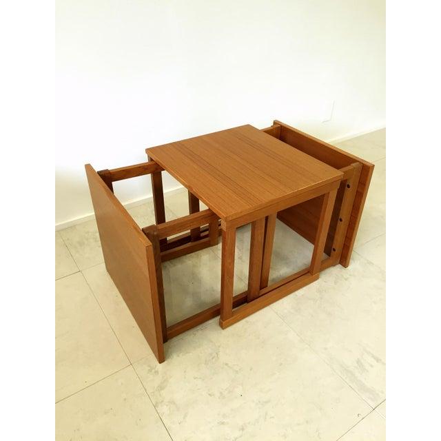 Kai Kristiansen Kai Kristiansen Teak Nesting Tables - Set of 3 For Sale - Image 4 of 9