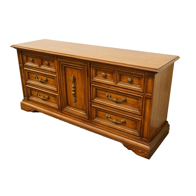 """Stanley Furniture Italian Neoclassical 68"""" triple door dresser. We specialize in high end used furniture that we consider..."""