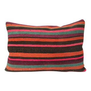 Vintage Traditional Colorful Kilim Pillow For Sale