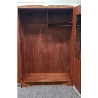Mid Century Teak Armoire - Great Extra Closet - Uk Import Preview