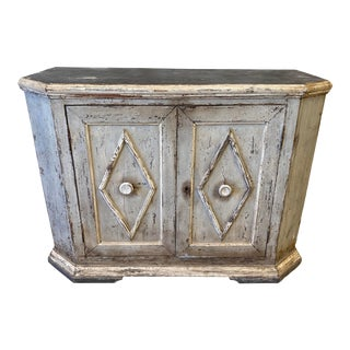Tuscan Painted Sideboard Credenza - 19th C For Sale