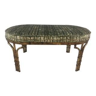 Custom Designed Upholstered Velvet Bench For Sale