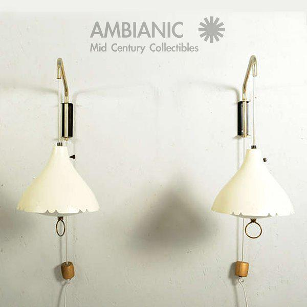 White Mid-Century Modern Pair of Wall Sconces After Lightolier For Sale - Image 8 of 11