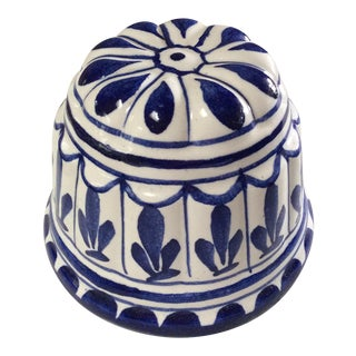 Blue & White Porcelain Jelly Mold For Sale