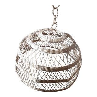 Vintage Wicker Chandelier Lamp Shade For Sale