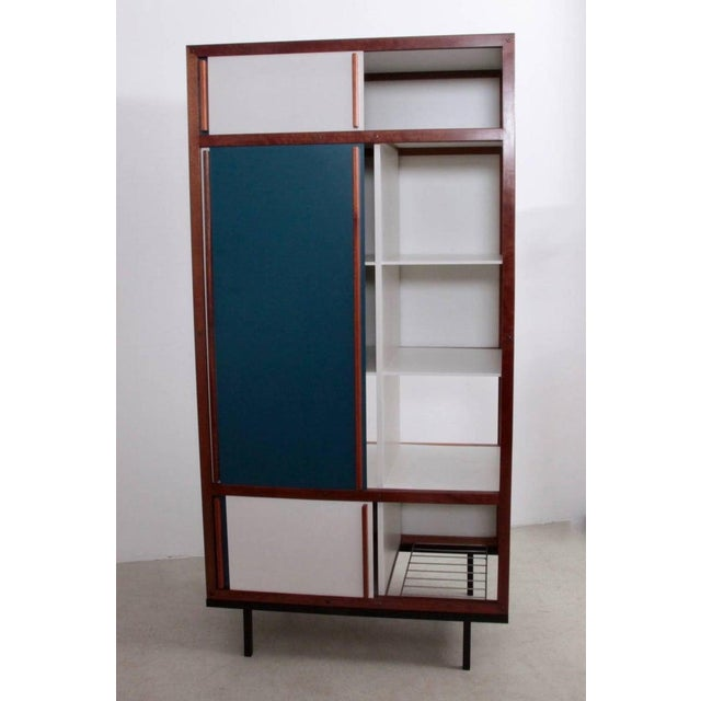 Cabinets, armoires or wardrobe by the most important Lyonaise designer of the 1930s-1950s, Andre Sornay. The wood front...