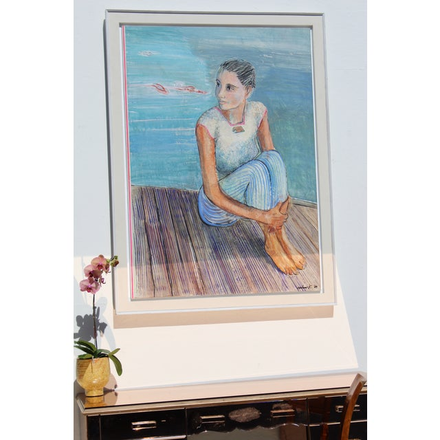 Contemporary Persian Contemporary Painting by Artist Milano Khzanjian For Sale - Image 3 of 7