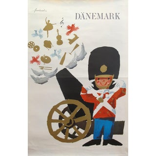1960s Orignal Vintage Danish Travel Poster For Sale