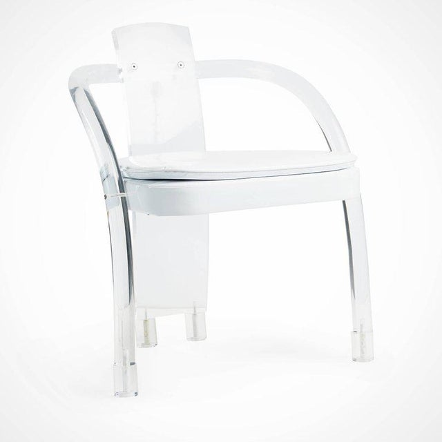 Mid-Century Modern Hill Manufacturing Lucite Waterfall Armchairs - Set of 4 For Sale - Image 3 of 11
