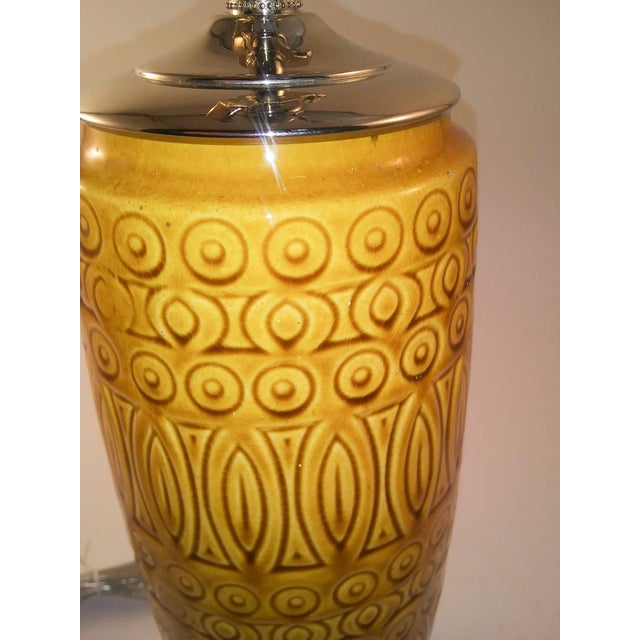 1960s Electrified Mid-Century West German Vase For Sale - Image 5 of 6
