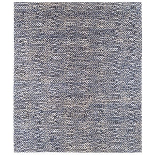 Contemporary Carini Geometric Indigo Area Rug - 13′3″ × 15′8″ For Sale