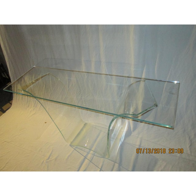 This is a vintage all glass ghost style console. The style is very FIAM of Italy - we are not sure if it is truly a FIAM...