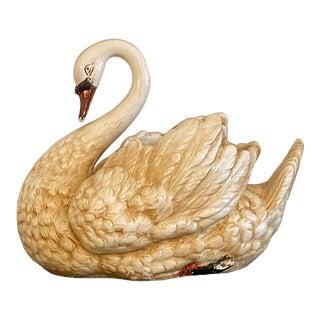 Vintage Porcelain Swan Planter For Sale