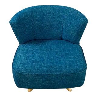 Mid Century Modern Swivel Side Chair For Sale