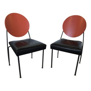 1990s Vintage Dakota Jackson Vik-Ter 1 Dining Chairs - A Pair For Sale