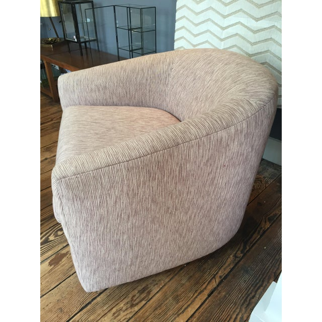 Reupholstered Milo Baughman Swivel Chair - Image 2 of 6