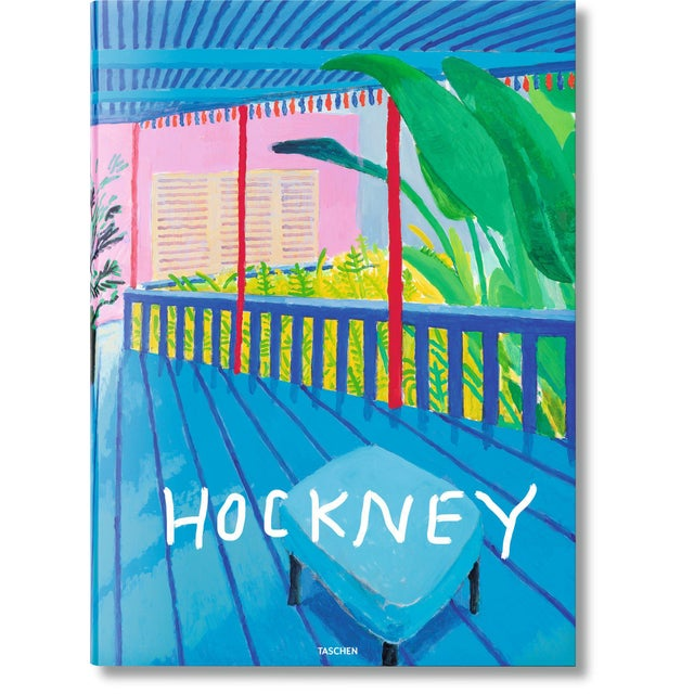 """Autographed David Hockney """"A Bigger Book"""" Painting Collection with Book Stand Collector's Edition For Sale - Image 12 of 13"""