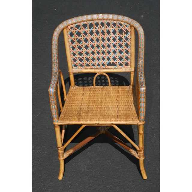 Early 20th Century Antique Children's Cane Chair For Sale - Image 10 of 10