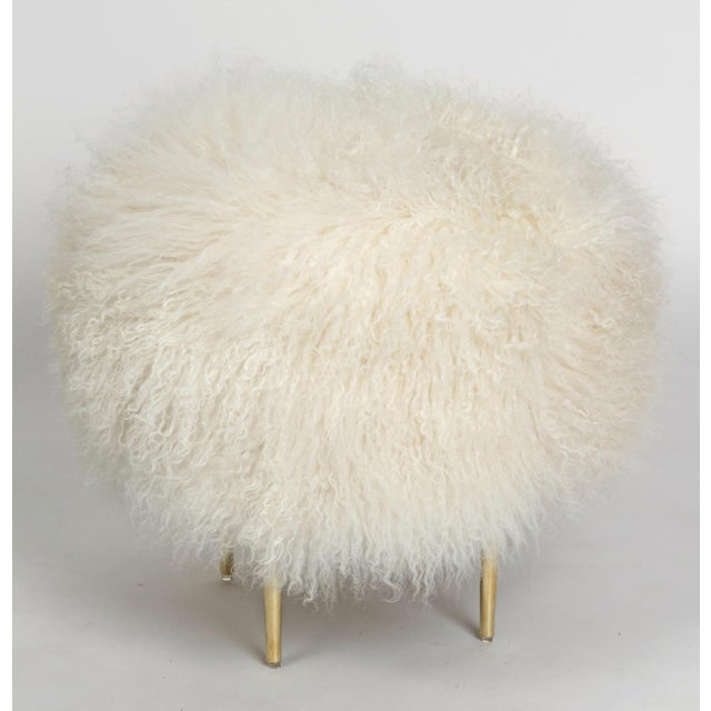 """Curly Rachel 18"""" Warm White Made of Tibetan Lamb Please allow 4 weeks before the item ships."""