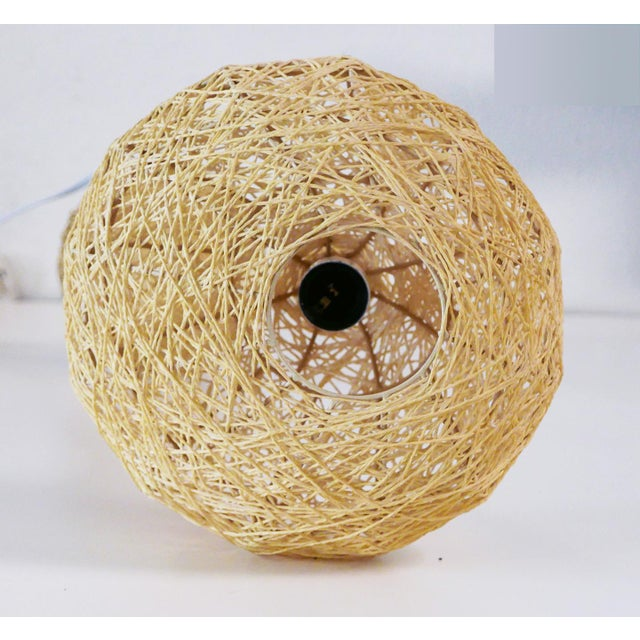 Ornamental & Decorative Materials Spun String Lamps - a Pair For Sale - Image 7 of 8