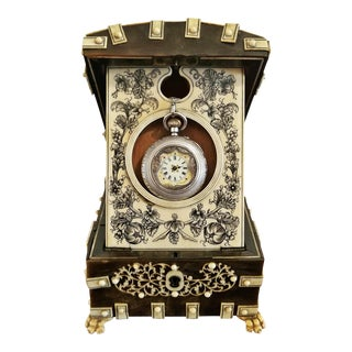 18th Century Anglo-Indian Vizigapatam Pocket Watch Display Box For Sale