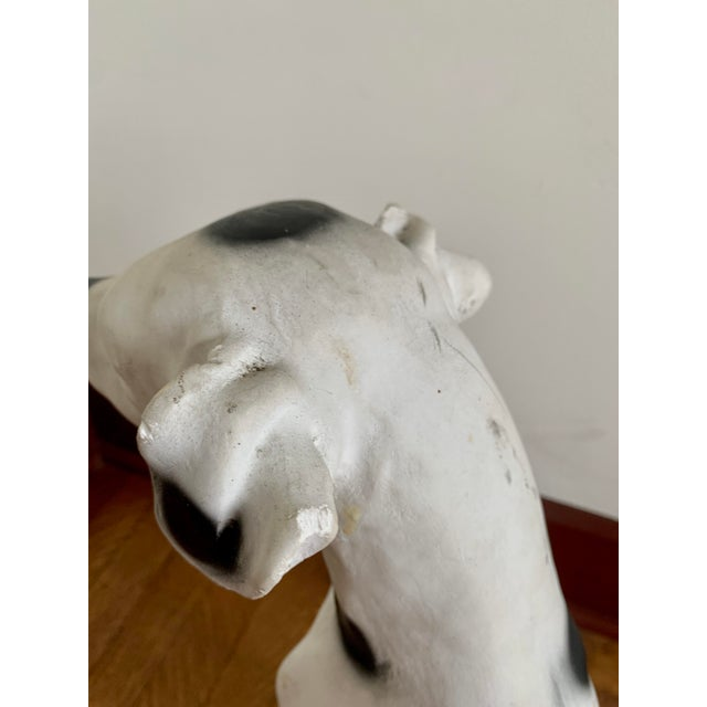 Vintage Chalkware Life Size Dalmatian Statue For Sale - Image 9 of 13