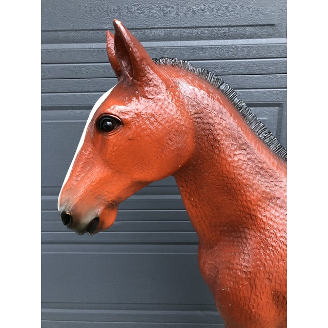 Mid 20th Century Vintage Resin Colt Horse Statue For Sale - Image 5 of 10