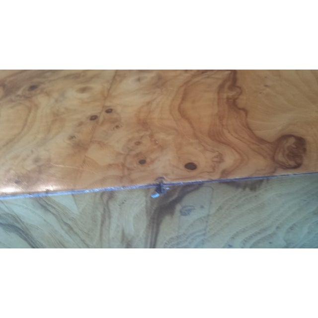 Milo Baughman-Attributed Burl Dining Table - Image 6 of 11