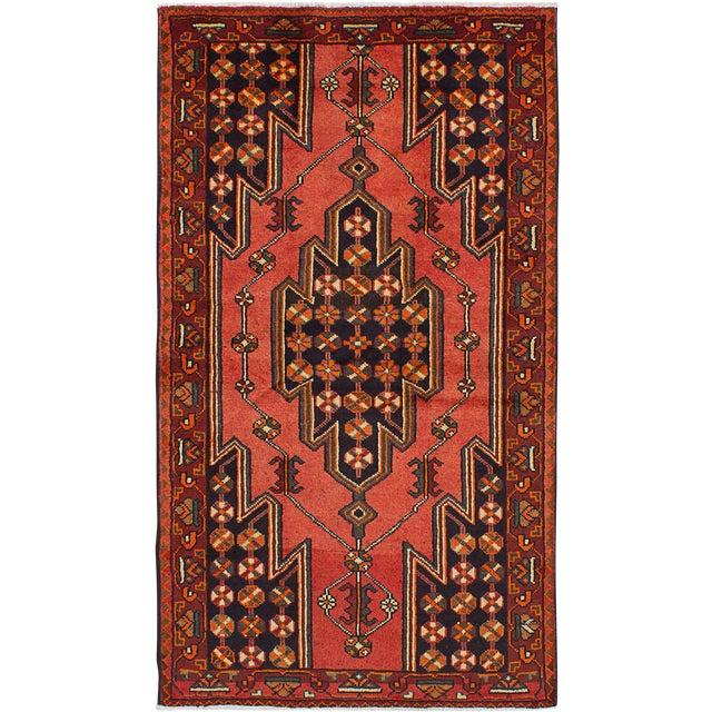 "Vintage Kurdish Rug, 4'2"" x 7'6"" - Image 1 of 2"