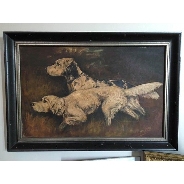 Mid-Century Hunting Dog Painting - Image 2 of 6