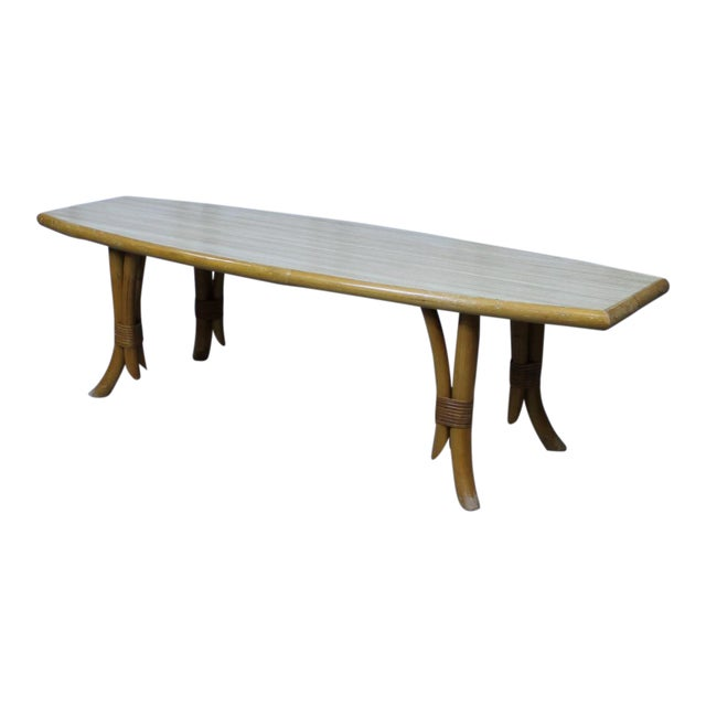 Mid-Mod Surfboard-Shape Cocktail Table 096a For Sale