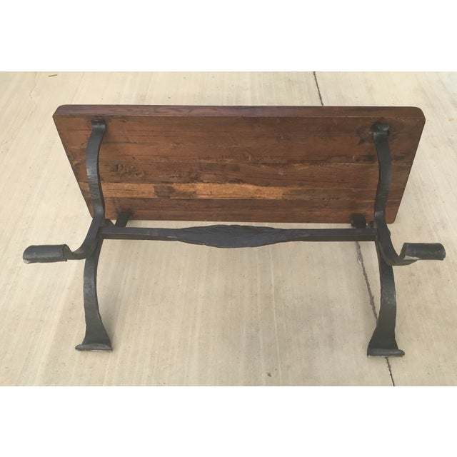 Late 20th Century Rustic French Iron Base Coffee Table For Sale - Image 9 of 12