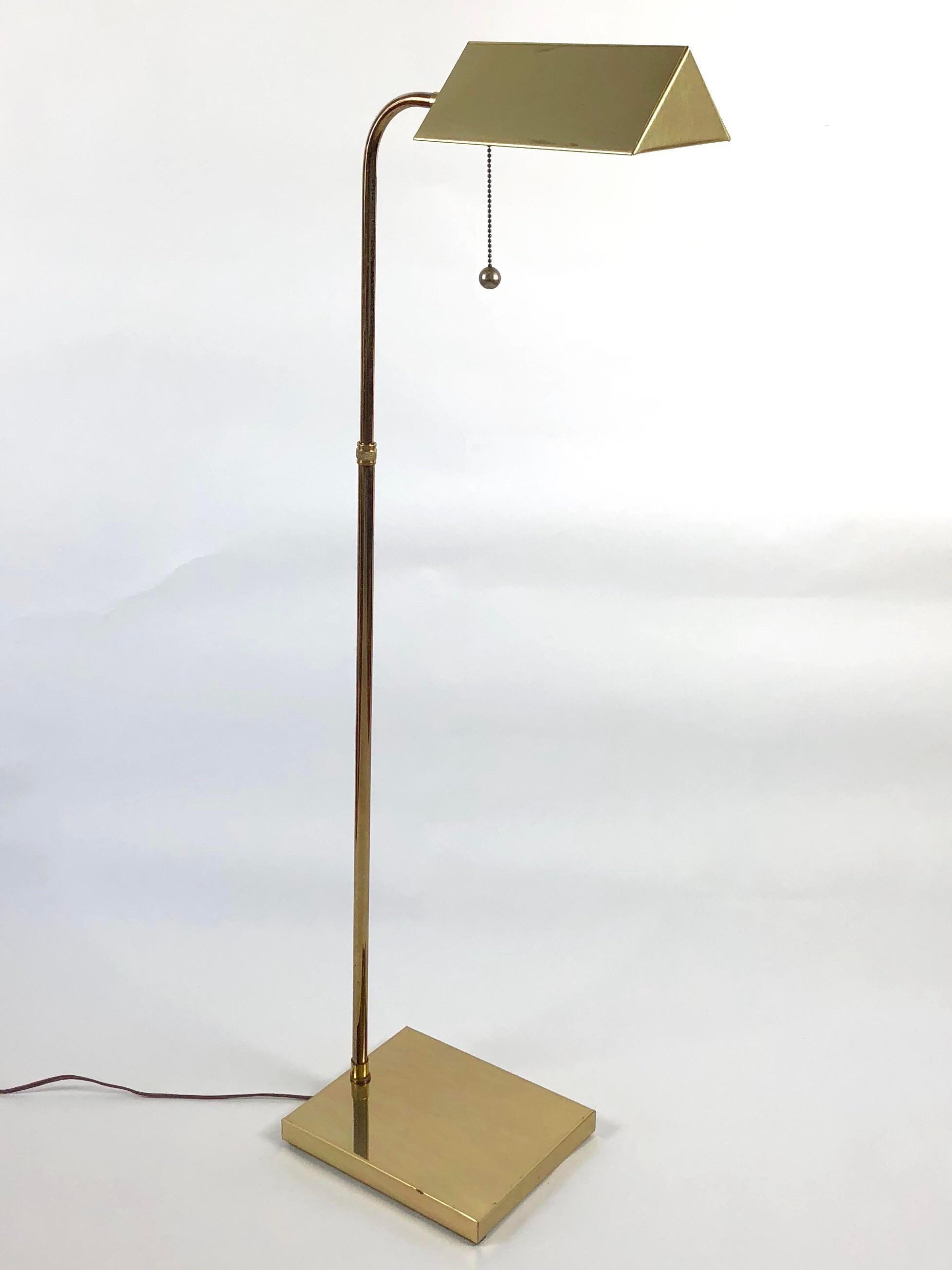 Adjustable Mid Century Brass Pharmacy Floor Lamp   Image 9 Of 10