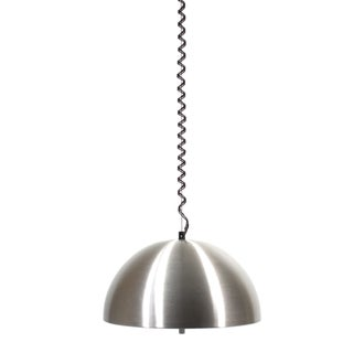 1970s Retractable Aluminum Ceiling Light