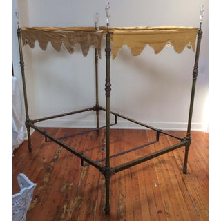 Four Poster Brass Canopy Bed Preview
